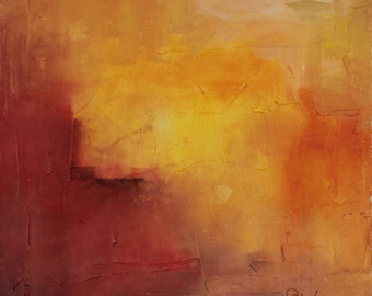 Somewhere a Sunset original abstract oil painting