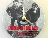 The Everly Brothers. Everly Brothers clock. CD clock. Music clock. Everly Brothers CD clock.