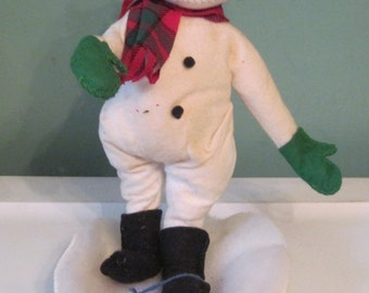 Vintage Annalee Christmas Snowman with original tag 1994