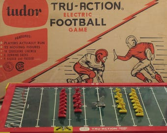 Vintage Electric Football Game Tru-Action by Tudor 1961