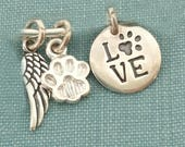 Add on Charms for existing BRACELET, angel wing, paw print, tiny heart, bone, love