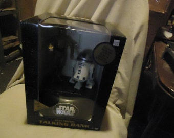 Vintage 1995 Star Wars R2D2 & C3Po Electronic Talking Bank Thinkway Nos New Old Stock, Collectable