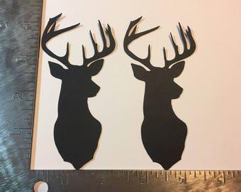 2 Mounted Deer Head die cuts