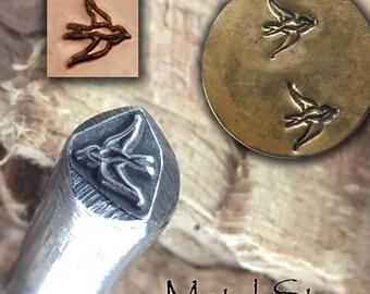 Metal Design Stamp - Flying Swallow Bird