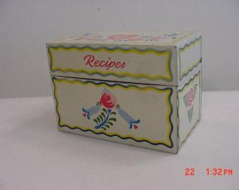 Vintage Ohio Art Company Metal Recipe Box  17 - 701