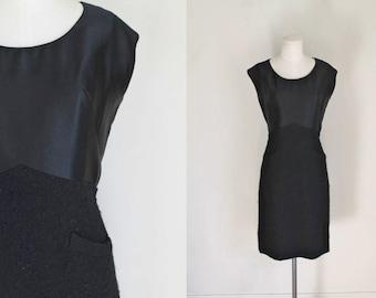 vintage 1950s CHRISTIAN DIOR dress - 50s Dior little black dress / M