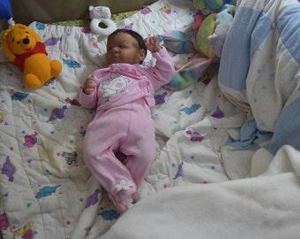 Reborn biracial reborn baby, AA baby, life like baby doll, OOAK small newborn, OOAK baby reborn girl, biracial girl, Newborn, baby girl