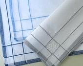 Set of 3 Assorted Color Fine Cotton Mens Handkerchiefs, Style No. 2034