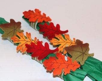 Fall Leaves Napkin Rings Set of 8