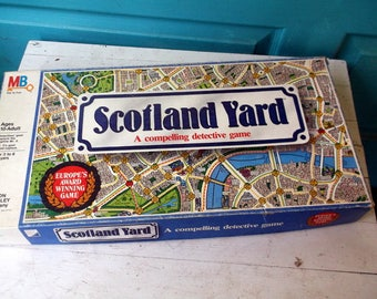 Vintage 1985 Milton Bradley Game SCOTLAND YARD A compelling detective game a Ravensburg game