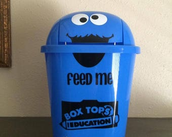 Cookie Monster Box Tops for Education Decal Personalized (LOW shipping)