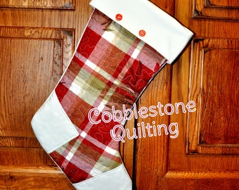 Keepsake Memory Christmas Stocking, Custom Order