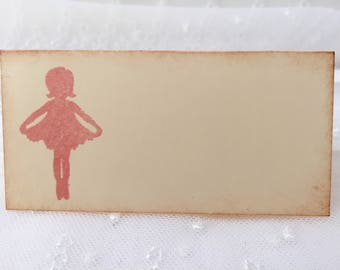 Ballerina Place cards / Placecards Food Buffet Candy Bar Signs Set of 10