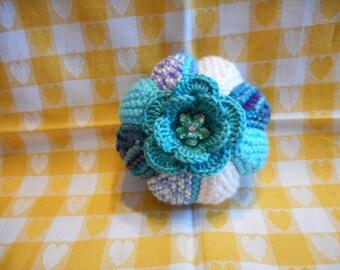 Pincushion, Knitted Pincushion, Round Pincushion, Sewing Accessories