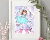 Personalised Ballerina Print