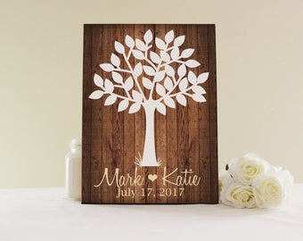 Wedding Tree Guestbook Sign, Guest Book Alternative, Wedding Guestbook Wall Decor, Wedding Keepsake