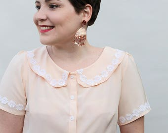Daisies Blouse - Two of a kind - Handmade by Alice
