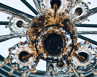 Ireland-Dublin Castle-Glass Chandelier- Fine Art Photography