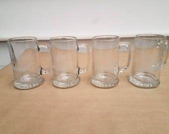 Set of 4 Vintage Ship Mugs/Glasses