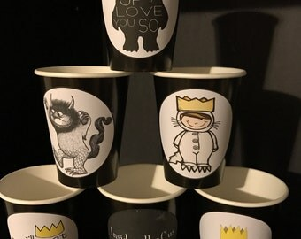 12 Where the Wild Things Are | Wild Beast Birthday Party Paper Cups 9 Ounces