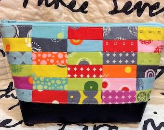 Fabulous patchwork zipper pouch