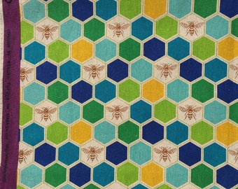 Etsuko Furuya Bees Echino Fabrics FQ or more