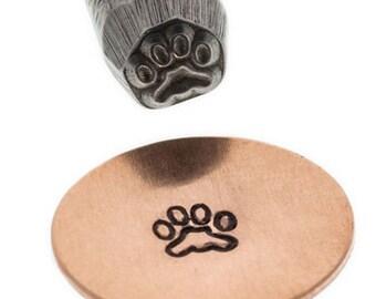 Paw Print Metal Design Stamp-4mm-Metal Stamp -Metal Stamping Supplies-Steel Stamp-Metal Supply Chick