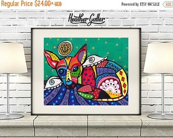 50% Off Today- Chihuahua art dog  Art Print Poster by Heather Galler (HG296)