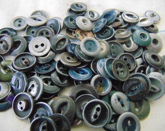 One Hundred Plus Metal Work Buttons