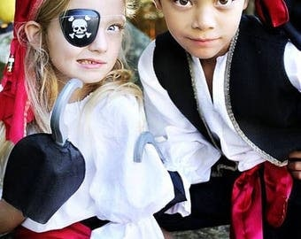 Pirate Girl Costume for Kids sizes through 10 years old