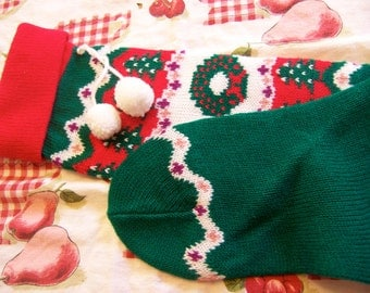 traditional christmas knit stocking
