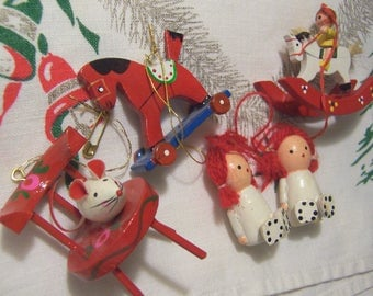 super cute bunch of holiday ornaments