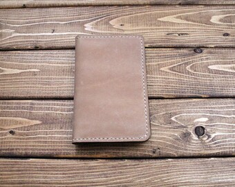 """Leather Cover for Moleskine Extra Small Notebook  (2.5"""" X 4"""") in CAMEL"""