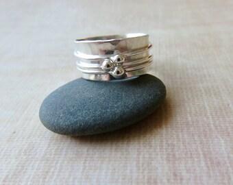 Wedding Spinner Ring - Worry Ring - Sterling Silver Spinner Ring - Fidget Ring - Worry Ring - Bride Gift Idea - Eternity Ring