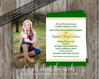 """Girl Scout Gold Award Invitations - """"Friendly-photo"""""""