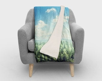Forest  Nature SHERPA Fleece  - Photography Fleece Photo Blanket / SHERPA Fleece Throw/ Accent Throw/ Fleece Blanket / Made To Order
