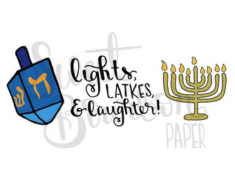 Hanukkah // Hand Drawn Planner Stickers