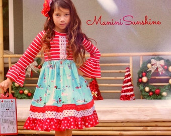 Christmas Knit Red Top  Dress