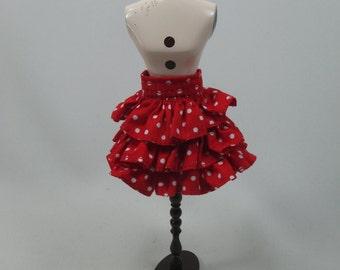 Handmade outfit for Blythe doll layers polka dot skirt A-9