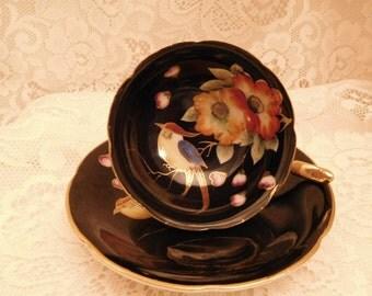 Vintage Demitasse Cup and Saucer Ardalt Lenwile Occupied Japan