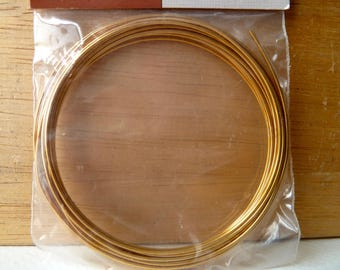 18 Gauge German Gold Wire with Copper Core -  4 Meter Coil, 13 feet - Good Price