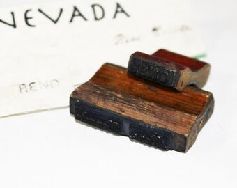 Vintage Reno and Reno, Nevada Rubber Stamps, Two (2) Vintage Stamps