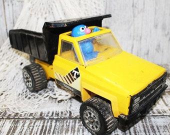 Yellow Metal Tonka Truck, Dump Truck, Vintage Tonka Truck
