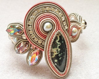 MIRAGE Soutache Embroidered Bracelet