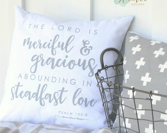 The Lord is merciful pillow cover 18""