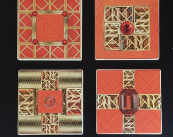 Tory Burch Inspired Coasters