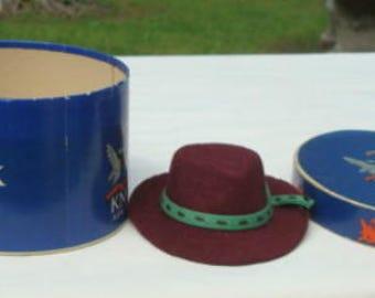Vintage Salesman's Sample Men's Hat Knox with Original Box Vintage Hat Miniature Hat