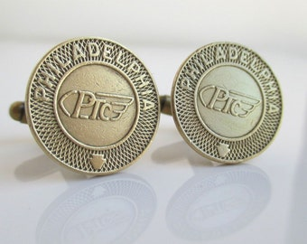 PHILADELPHIA Transit Token Cuff Links - Vintage Repurposed Coins
