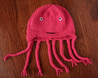 Baby Octopus Hat with Tentacles