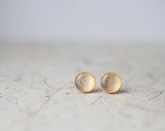 Gold Foil Studs - Metallic Shimmer - Post Earrings BUY 2 GET 1 FREE
